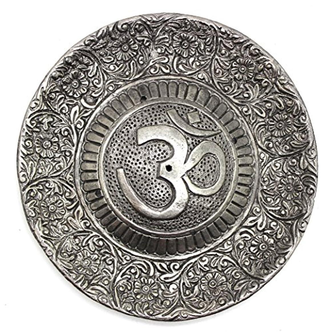 集団的肺驚かすGovinda - Tibetan Incense Burner - Larger OM Symbol - 11cm Diameter