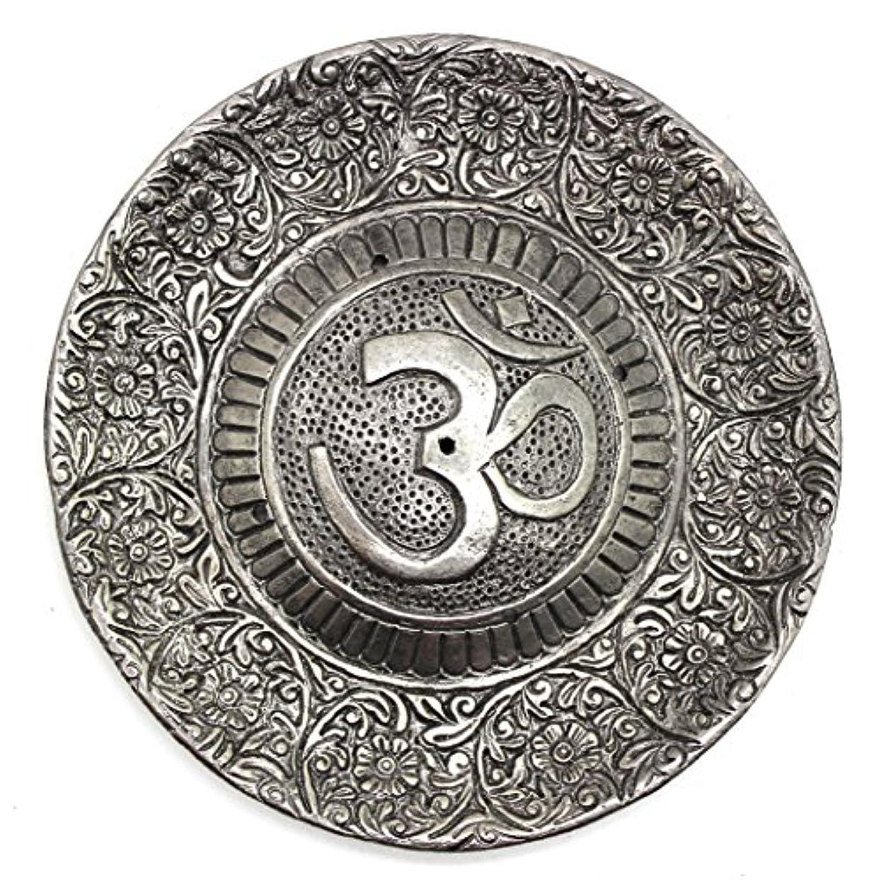 ハイライトかすかな霜Govinda - Tibetan Incense Burner - Larger OM Symbol - 11cm Diameter
