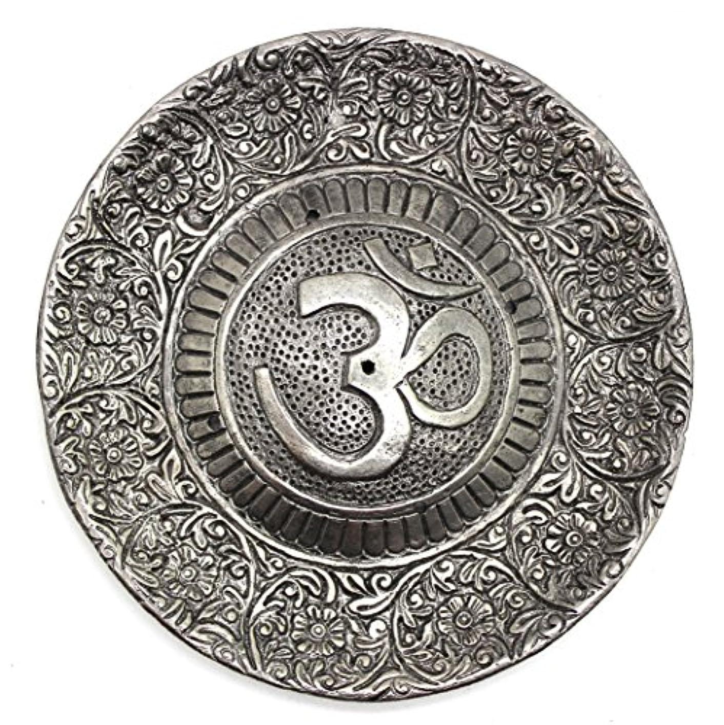 気分農学稚魚Govinda - Tibetan Incense Burner - Larger OM Symbol - 11cm Diameter