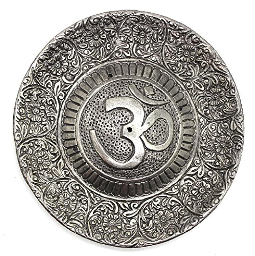 羨望フォージ安いですGovinda - Tibetan Incense Burner - Larger OM Symbol - 11cm Diameter