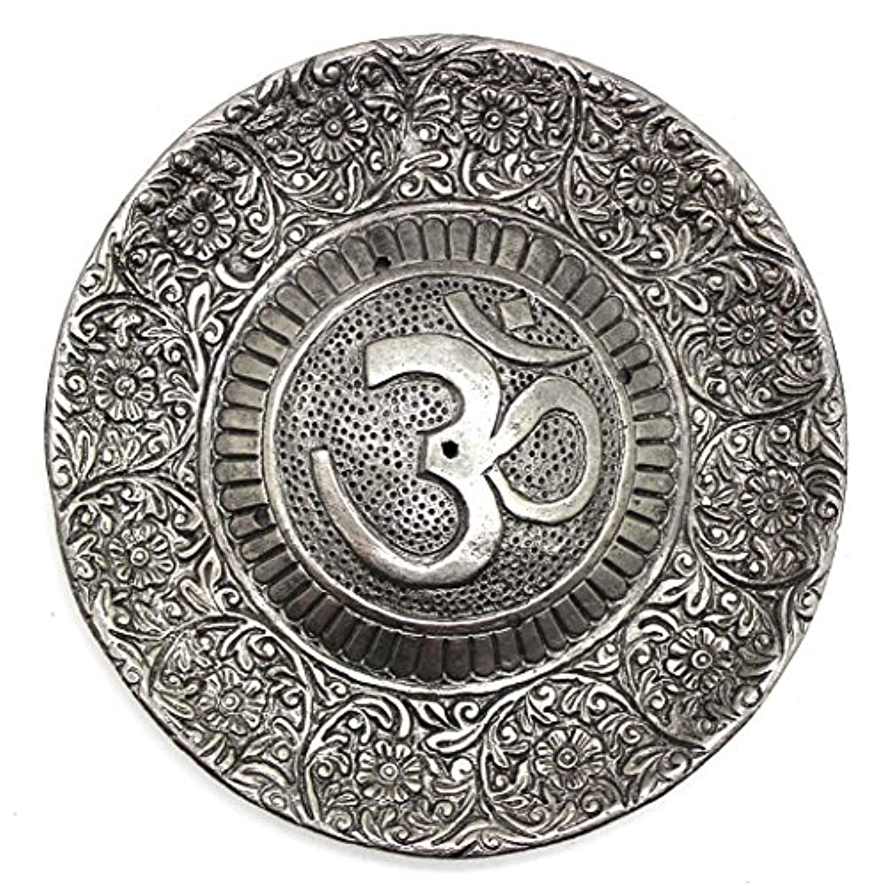 比喩謝罪するカーペットGovinda - Tibetan Incense Burner - Larger OM Symbol - 11cm Diameter