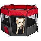 "PaWz 8 Panel Pet Playpen Dog Puppy Play Exercise Enclosure Fence Grey M Grey 36""(91cm x 56cm)"