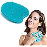 Soft Silicone Shower Brush, Body & Face & Short Hair Wash, Bath Exfoliating Skin Massage Scrubber, Dry Skin Brushing Glove Lo