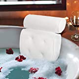 Bathtub Pillow, Watcer Waterproof Bath Pillow Cushion with Non-Slip Large Suction Cups for Head Neck Back and Shoulder Suppor
