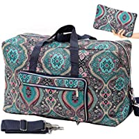Large Foldable Travel Bags for Women Floral Cute Duffle Bag Overnight Weekender Bag for Kids