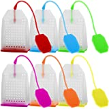6 Pack Silicone Infuser Tea Filter Reusable Safe Loose Leaf with Random Colors