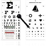 EMI OCC-WSK 3 Piece Set - Occluder Plus Snellen and Kindergarten/Children Plastic Eye Vision Exam Test Wall Charts 22 by 11 i