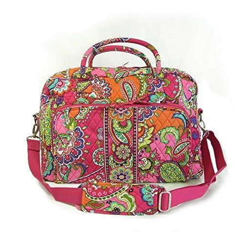 (ヴェラ・ブラッドリー)Vera Bradley バッグ Weekender ウィークエンダー(Pink Swirls) 12479-179 VB-74F [並行輸入品]