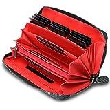 (ボルチット) 財布 メンズ 長財布 本革 カード19枚収納 大容量 小銭入れ カーボンレザー ラウンドファスナー