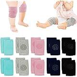 5 Pairs Nextnol Baby Crawling Anti-Slip Knee, Unisex Baby Toddlers Kneepads,Adjustable Knee Elbow Pads Crawling,Safety Protec
