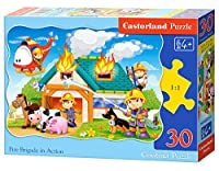 Castorland Jigsaw Midi 35pc-fire Brigade In Action