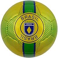 Vizari Brasilトレーナーサッカーボール91854、イエロー、1