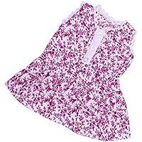 Dovewill 全2色選ぶ 18インチアメリカガールドール対応 人形 素敵 袖なし ドレス  - パープル
