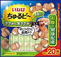 いなば 犬用おやつ ちゅるビ~ 20袋入り ささみと焼ささみ 野菜入り おなかの健康配慮 10g×20袋