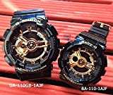 [カシオ]CASIO 腕時計 G-SHOCK&BABY-G ペアウォッチ ペア腕時計 ジーショック&ベビージー ブラック×ゴールド 黒×金 ビッグケースシリーズ GA-110GB-1AJF BA-110-1AJF 国内正規品