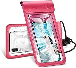 【Humixx】防水ケース スマホ防水ケース スマートフォン防水ポーチ iPhone防水ケース IPX8規格 携帯防水カバー 6インチまで対応 (レッド)