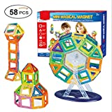 Bello Luna 58pcs磁気おもちゃ3d Building Blocks Toys Set with Ferris Wheel for Children