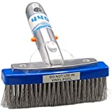440 Heavy Duty 5 Inches Wide Pool Brush, Stainless Steel Bristles, Professional-Brush Cleaner, Works for General Cleaning of