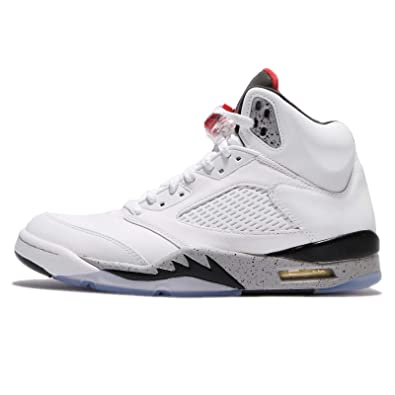 Amazon   (ジョーダン) エアジョーダン 5 レトロ メンズ バスケットボール シューズ Air Jordan 5 Retro  136027-104 [並行輸入品]   バスケットボール