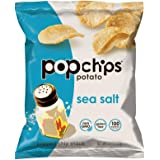 Popchips Sea Salt Potato Chips Single Serve 0.8 oz Bags (Pack of 24)