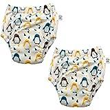 Happy Buba Baby Boys Girls Cotton Potty Training Pants - 2 Pack - Ships from Australia (12M, Penguin)