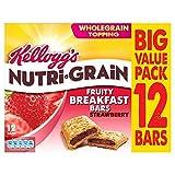 Kellogg's Nutri-Grain Breakfast Bars Strawberry (12x37g) ケロッグニュートリグレイン朝食バーイチゴ( 12X37G )