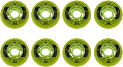 Lovoski スケートボート 交換用タイヤ ホイール ウィール ローラースケート フラッシュ 耐摩耗性 8個入り 3サイズ2色選べる