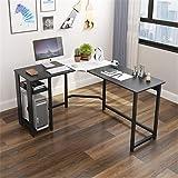 Reversible L-Shaped Desk Corner Gaming Computer Desk Office Workstation Modern Home Study Writing Wooden Table,A