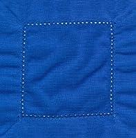 ロイヤルブルー6x 6カクテルヘムステッチナプキン1ダース