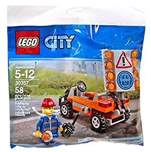 Lego 30357 City Road Worker Polybag 58 Pieces