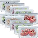 1/2 Gallon Freezer Bags Reusable Ziplock Food Storage Bags for Vegetable, Liquid, Snack, Meat, Sandwich, 10.2x7.87 Inch, 10 P