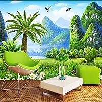 Lixiaoer 自然風景カスタム3D写真壁紙大壁画壁紙絵画リビングルームのソファテレビ壁紙壁画3D-250X175Cm