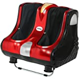 Livemor Foot Massager Shiatsu Ankle Calf Leg Massagers Circulation Enhancer Machine Red