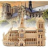 Faxiang ノートルダム大聖堂3D木製パズル DIYモデル 組み立て式教育玩具 子供と大人用