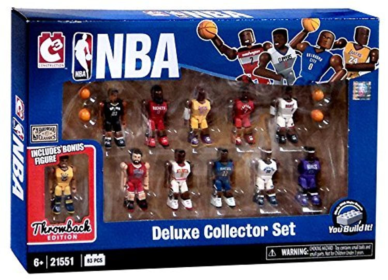 NBA Deluxe Collector Figure 11 Player Set C3 83 Pieces [並行輸入品]