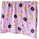 GK-O Sailor Moon Blanket Tsukino Usagi Cosplay Purple Luna Blanket (Blanket 78.74in×78.74in)