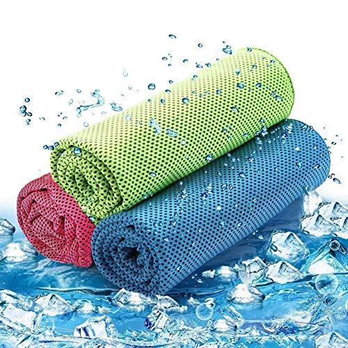 Beoborn 冷却タオル(3枚セット) 速乾タオル 超冷感 クール スポーツタオル 熱中症対策 超速乾 超吸水タオル