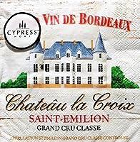 Cypress Home 20-Ct Cocktail Beverage Paper Napkins Wine Labels Chateau la Croix