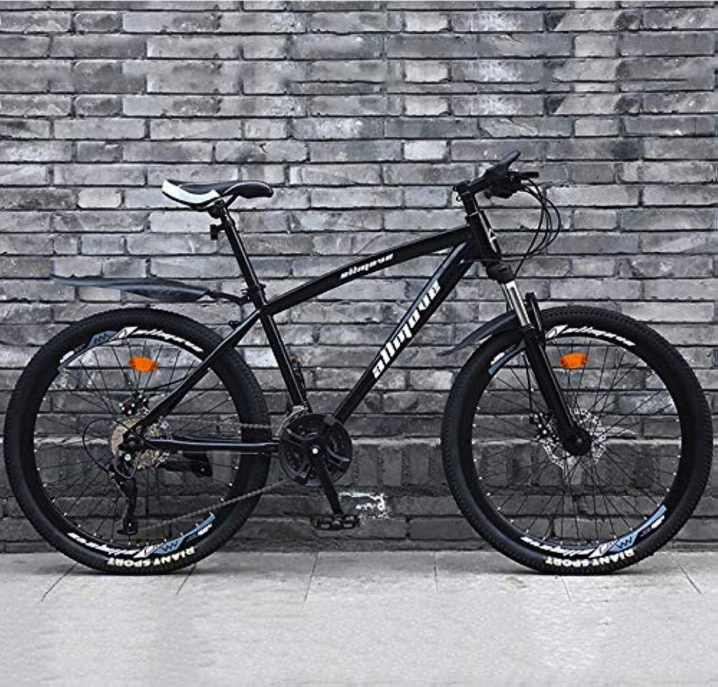 エアコン有望大脳24インチマウンテンバイク高炭素鋼Hardtailマウンテンバイクフロントサスペンション調節可能なシートマウンテン自転車,黒,21 Speed