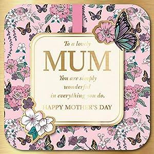 (ユーロラップ) Eurowrap マザーズデイ 母の日 グリーティングカード (3枚セット) (ワンサイズ) (ピンク)