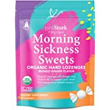 Pink Stork Morning Sickness Sweets: Ginger Mango Morning Sickness Candy for Pregnancy, Nausea, Digestion, 100% Organic + Vita