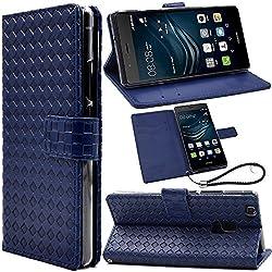 F.G.S正規代理品 手帳型 カードホルダ スタンド機能付き ブルー