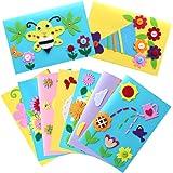 Kids Greeting Card Making Kit, Hicdaw 9Pcs Card Making Kits for Kids Greeting Card Kit DIY Handmade Card Making Supplies Art