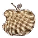 (ファウジーヤ)Fawziya リンゴの形 クラッチバッグ レディース 結婚式 パーティーバッグ-ゴールド