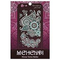MEHENDI Henna Tattoo Sticker 孔雀と羽根 シルバー MEHENDI-01-SV