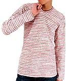 (エドウィン) EDWIN Tシャツ メンズ ブランド 長袖 ロンT 無地 4color L ピンク