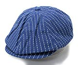 ノーブランド品 キャスケット ハンチング シームストライプ ワーク キャップ 帽子 デニム