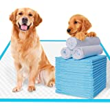 EZONEDEAL Extra-Large Pee Pads for Dogs Super Absorbent and Thicker Puppy Pads with New Quick-Drying Materials Potty Training