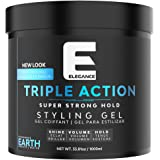 Elegance Triple Action Hair Gel 33.8 Ounce Blue