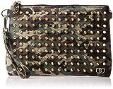 [ディアベル] クラッチバッグ  01-01-42-001 CAMO×RED×GOLD STUDS グリーン